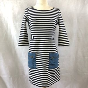 Anthropologie Tabitha Marin Stripe Shift Dress